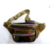 GOLD/BRONZE COLOR IRIDESCENT COLOR FANNY PACK, 4 ZIPPERS