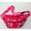 PINK CAMO FABRIC FANNY PACKS 4 ZIPPERS