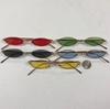 SMALL ELONGATED OVAL METAL FRAMES WITH COLOR LENS
