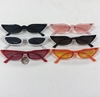 FLATTENED CAT EYE SHAPED LUCITE FRAMES IN ASSORTED COLORS