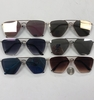 COOL SHAPE METAL SUNGLASSES WITH ASSORTED MIRROR LENS