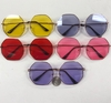 ROUNDED OCTOGONAL SHAPED METAL FRAMES WITH COLOR LENSES