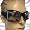 CLEAR LENS GOGGLES, BLACK/ GRAY FRAMES,