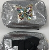 BUTTERFLY ON A SILVER GLITTER EFFECT FANNY PACK