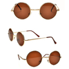 LENNON STYLE GOLD FRAME, BROWNISH LENS SUNGLASSES