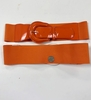 WIDE NEON ORANGE STRETCH BELT