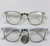 CLEAR LENS RETRO 50&#39S GLASSES W/ WHITE OR FROSTED WHITE FRAME