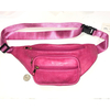 PINK FANNY PACK  WITH PINK WAIST STRAP4 ZIPPERS, GOLD HARDWARE