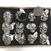 SKULL RINGS ASSORTED STYLES AND SIZES, MENS SIZES