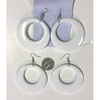 WHITE CLASSIC MOD EARRINGS, GREAT SELLER