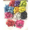 FLOWER HAIR CLIPS ASSORTED COLORS A BIT IRIDESCENT
