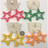 STAR SHAPE  COLOR EARRINGS IN 4 COLORS