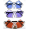 SILVER GLITTER STAR SHAPE SUNGLASSES  COLOR LENSES