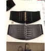 WIDE BLACK BELT MILITARY BUCKLE LOOK CORSET TYPE