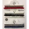 4 LINE CLEAR GEM HEADBAND WITH THREAD LOOPS IN ASSORTED COLORS