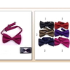 FALL COLORS BOW TIE WITH DIAGONAL STYLE LINES