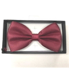 BOW TIE, ALL BURGUNDY COLOR, COMES IN DISPLAY BOX