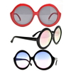 LARGE ROUND SHAPE RETRO/FUNKY FRAMES COOL LENSES SUNGLASSES