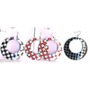 POLKA DOT METAL EARRINGS METAL  ASST COLORS