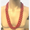 RED THICK RAPPER CHAIN 36 INCH NECKLACE, LIMITED STOCK