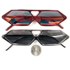 6 SIDED SHARP LOOKING MIRROR LENS FUNKY SUNGLASSES