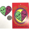 HEART SHAPE 2 ALIENS FACES TOGETHER PATCH