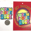 MEAN PEOPLE SUCK PATCH IN ASSORTED COLOR LETTERS