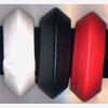 JETSON FUTURISTIC SHAPE BANGLE IN BLACK, WHITE AND RED