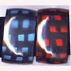 COLOR SMALL SQUARES ON A BLACK BANGLE