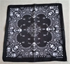 SKULL BANDANNAS WITH DESIGNS, 100% COTTON