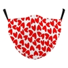 RED HEARTS FACE MASKS FOR VALENTINES DAY