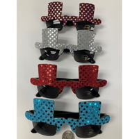 TOP HAT SEQUIN/GLITTER LOOK SUNGLASSES, LIMITED STOCK