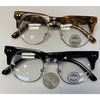 CLEAR LENS ROUND SHAPE SOHO/WAYFARER COMBO LOOK WITH FUNK