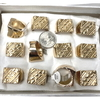 GOLD COLOR METAL MENS RING, ASSORTED SIZES