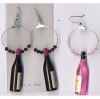 WINE BOTTLE/LOOP EARRINGS