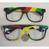 CLEAR LENS RASTA COLOR SUNGLASSES, LIMITED QUANTITY