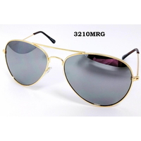 MIRROR LENS,GOLD FRAMES CLASSIC AVIATORS SUNGLASSES