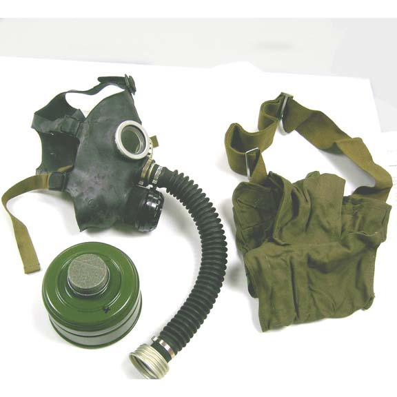 BLACK GAS MASKS KIDS SIZE, NEW, COMES W/FILTER & BAG