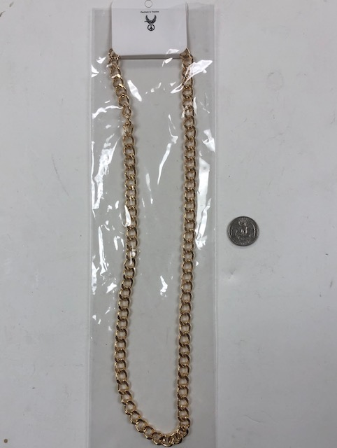 GOLD METAL CHAIN NECKLACE LONG 29-31 INCHES ADJUSTABLE
