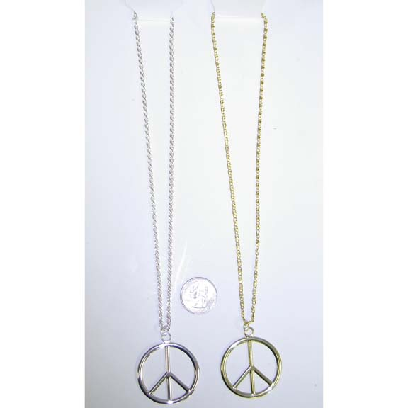 PEACE ECONOMY NECKLACE GOLD OR SILVER