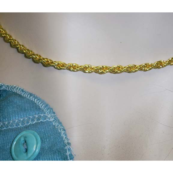 GOLD CHAIN CHOKER NECKLACE 17 INCH