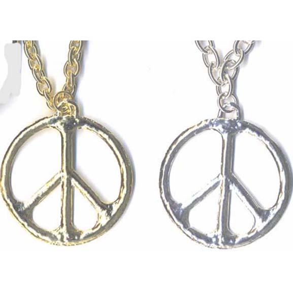 PEACE NECKLACE ON A METAL CHAIN