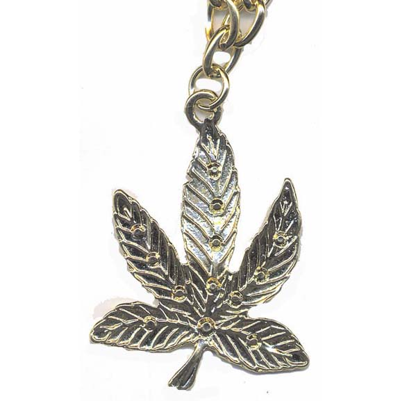 GOLD COLOR METAL LEAF NECKLACE LEAD COMPLIANT