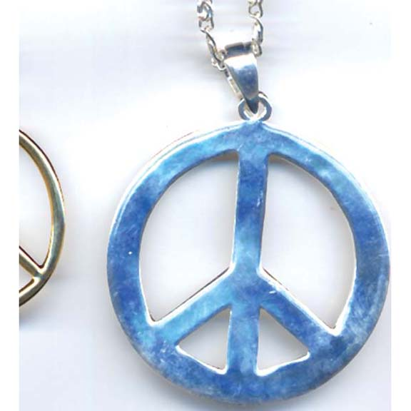 PEACE SIGN NECKLACE BEST QUALITY SILVER ONLY