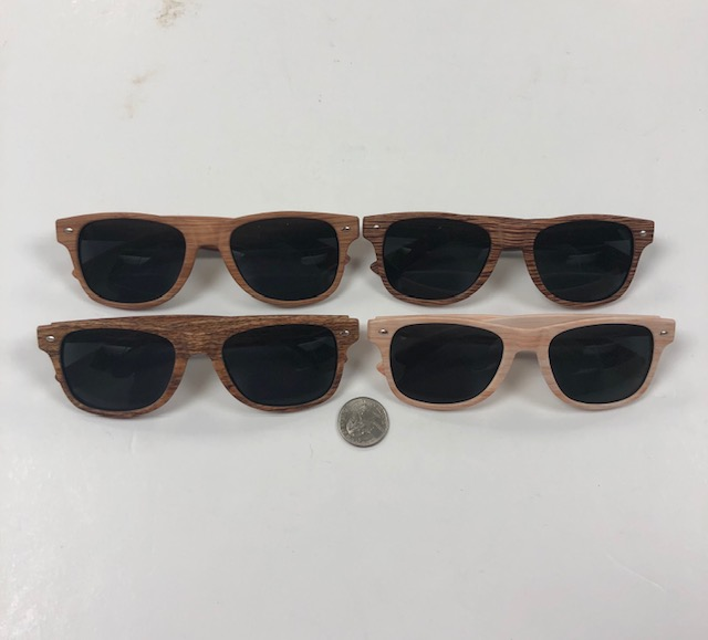 WOOD GRAIN WOOD LOOKING BLUES BROTHERS SUNGLASSES