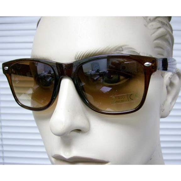 BLUES BROTHERS BROWN TRANSLUCENT FRAMES SUNGLASSES