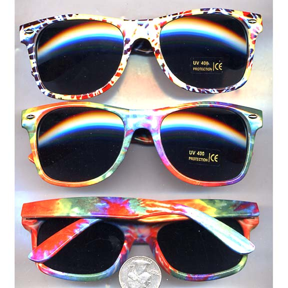 BLUES BROTHERS TYE DYE FRAMES SUNGLASSES