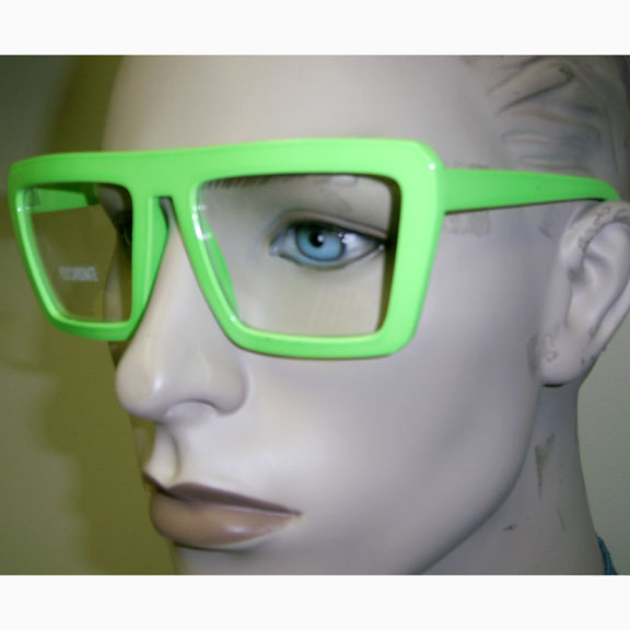 CLEAR LENS BRIGHT COLOR POP STAR SHAPE GLASSES