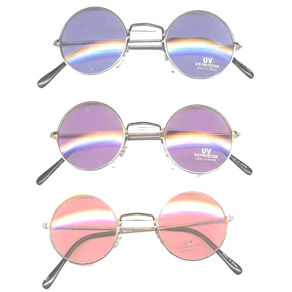 LENNON  SUNGLASSES, 3 DIFFERENT COLOR LENSES