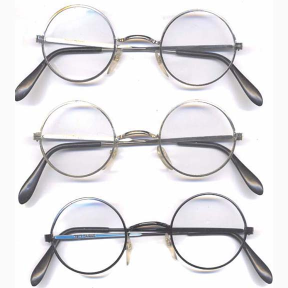 CLEAR LENS ROUND LENNON GLASSES, CAN PICK FRAME COLORS